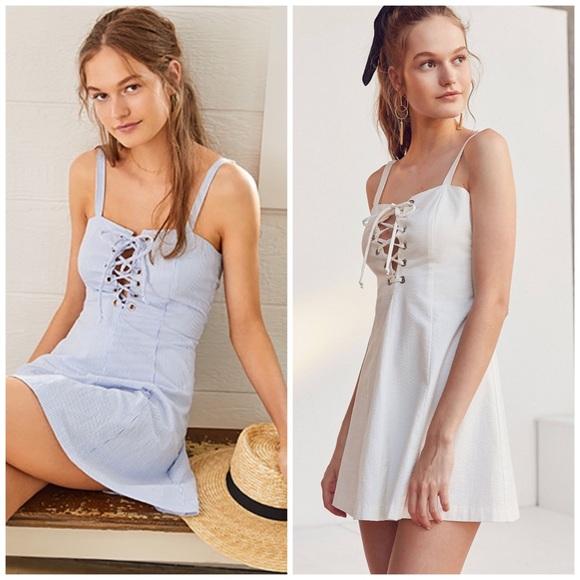 STAUD Dresses & Skirts - SOLID + STRIPED x STAUD Catalina Seersucker Dress